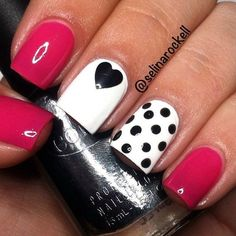 45 Cute Valentine Nail Art Designs to spread Love - Page 3 of 3 - Latest Fashion Trends