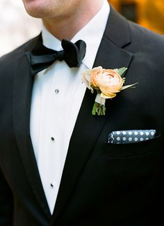peach ranunculus boutonniere | Melissa Schollaert | See more about Ranunculus, Boutonnieres and Southern Weddings.