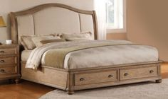 Bedroom Decor: Coventry Queen Bed by Riverside at Kensington Furniture. Simple yet elegant makes the perfect bed!