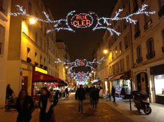 Rue Cler Christmas lights