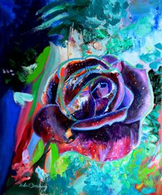 "Saatchi Online Artist: Robert Doesburg; Oil 2010 Painting ""purple rose"" Some sweet Dutch art."