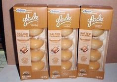 Glade Scented Oil Candles Refills Salted Caramel 12 Candles 3 Packages Brand New