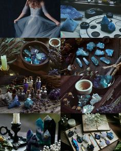 Blue witch aesthetic