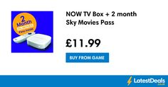 NOW TV Box + 2 month Sky Movies Pass, £11.99 at GAME