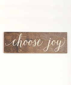 Cream 'Choose Joy' Wall Sign