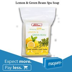 Get spa effective result while being at the comfort on your own home. Soothing scent from lemon combines with green bean knowing for its quality to alleviate irritating skin. A blend of quality herbs helps nourishing, moisturizing and Whitening skin. Online Shopping Uae, Lemon Green Beans, Whitening Soap, The 100, Moisturizer, Spa, Herbs, Personal Care, Good Things