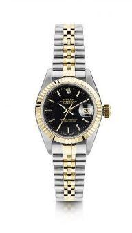 #graduation Pre Owned Rolex Lady Datejust Black Dial Bi-Colour Watch #rolex #ladieswatch #luxurywatch #gift #present #laingsofglasgow