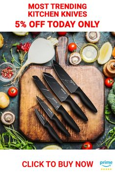 Chef's Ultimate Choice: Sharpze's Premium kitchen Knives set is made of high-quality stainless steel that resists rust and corrosion. Ideal for chopping, slicing, dicing, and mincing all kinds of meat, vegetables, fruits, and bread . . . . #chefknifeset #knifesetkitchen #paringknife #serratedparingknife #vegetableknife Chef Knife Set, Knife Sets, Marble Pattern, Kitchen Knives, Bread, Vegetables, Bridal Lipstick, Rick Danko, Seafood Kitchen