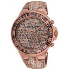 Michael Kors Gramercy Rose Python Glitz Chronograph Ladies Watch MK2305
