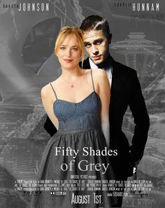 maslowandme:  50 Shades of Grey, Dakota Jhonson and Charlie Hunnam Fan Art 2Credit to @KarlisMslw on twitter