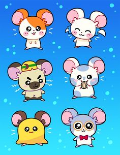 A kiss cut holographic sticker sheet measuring x in of Hamtaro+Friends! Hamster Names, Old Girl Names, Cat Bag, Cute Memes, Cute Drawings, Holographic, Cute Wallpapers, Baby Animals, Hello Kitty
