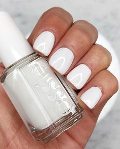 @brightonkeller // white nail color for by essie // summer nail color