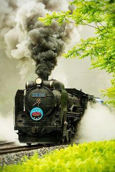 Japanese Old Steam Locomotive, Iwate, Japan: