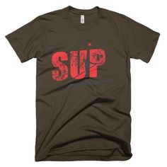Stand Up Paddle SUP Outdoors Water Sports Unisex Mens or Womens Tee Short sleeve men's t-shirt