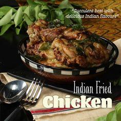 Indian Chicken Fry Recipe, Spicy Chicken Recipes, Veg Recipes, Curry Recipes, Indian Food Recipes, Dinner Recipes, Indian Fried Chicken, Indian Eggplant Recipes, Indian Chicken Dishes