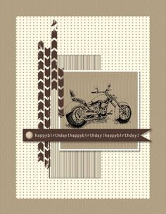 Stampin' Up! masculine birthday cards.  This card was created digitally with My Digital Studio.