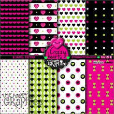 Heart Digital Paper, COMMERCIAL USE, Heart Pattern, Printable Paper, Valentine's Day Paper, Heart Party, Heart Celebration, Love Paper