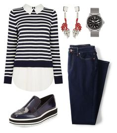 """""""Jump!"""" by gatocat ❤ liked on Polyvore featuring Lands' End, Citizen, Prada and Marni"""