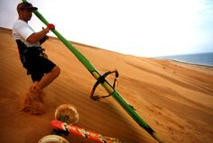 Sable farineux des dunes de Mahara en Mauritanie