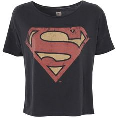 ONLY Superhero Boxy T-Shirt ($14) ❤ liked on Polyvore featuring tops, t-shirts, shirts, blusas, grey, superman t shirt, destroyed t shirt, superman tee, superman ripping shirt and ripped t shirt