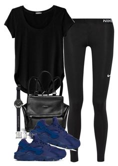 """""""Untitled #1694"""" by victoriamk ❤ liked on Polyvore featuring NIKE, Cosabella, Givenchy and Witchery"""
