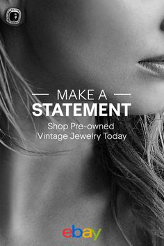 Make a statement and shop pre-owned vintage jewelry from eBay today.