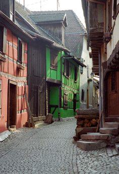 Colorful Alsacian houses in Riquewihr - Riquewihr, Alsace
