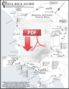 Click to download the PDF version of the Manuel Antonio map