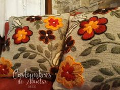 Mexican Embroidery, Crewel Embroidery, Hand Embroidery Patterns, Felt Applique, Embroidered Flowers, Wool Felt, Needlework, Cross Stitch, Crafty