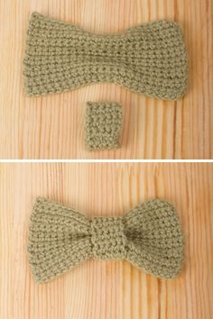 Crochet Bow Tie Necklace - Tutorial use as a jumping off point for bow tie cuff Crochet Bow Ties, Love Crochet, Crochet Flowers, Knit Crochet, Fabric Flowers, Crochet Patterns For Beginners, Easy Crochet Patterns, Crochet Designs, Knitting Patterns