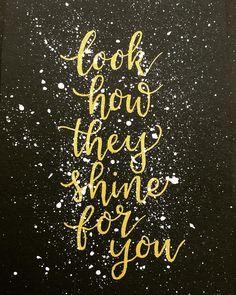 Coldplay Yellow Guitar Lyrics Poster No Frame Horizontal Poster 12-36 Inches