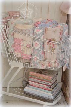 I have 2 old shopping carts and a collection of old raggy quilts...guess how I'll be renewing their display...