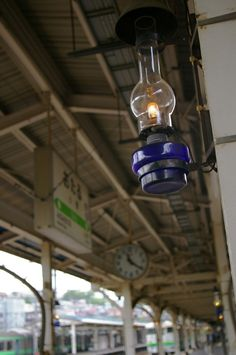 otaru train station / station of the lamp