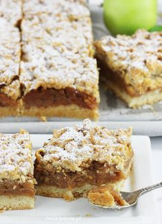 Szarlotka | AniaGotuje.pl Krispie Treats, Rice Krispies, Dessert Drinks, Apple Pie, Recipies, Goodies, Food And Drink, Baking, Deserts