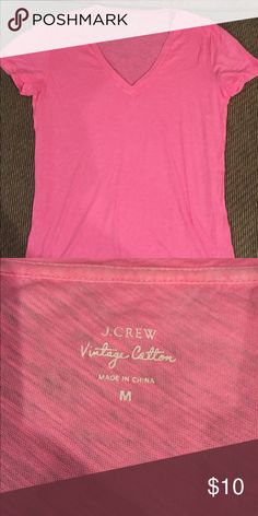 J. Crew V-neck Tee. Size Medium. Pink Classic Vintage J Crew Tee. Only worn once. Good as new! Size Medium. J. Crew Tops Tees - Short Sleeve