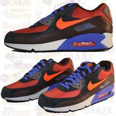 NIKE AIR MAX 90 WINTER PRM RED CLAY CRIMSON BLACK MENS SNEAKERS TRAINERS # Nike #