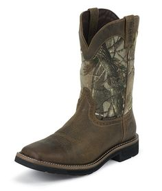 Realtree camouflage and Justin Boots teamed up to bring cowboy boot lovers and hunters a comfortable work boot. For over 15 years Justin Boots has used the tried and trusty outsole on the boot, made for a long-lasting life that's slip-resistant. The Justin Work Boot line has an average customer rating of 5 out of [...]