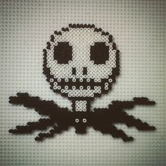 Jack Skellington perler beads by hadavedre