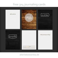 Foodie journal cards freebie from allerliebsteanika