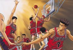 Here's 8 of so many reasons why Slam Dunk is a well-loved series and why it's by far the greatest sports anime/manga ever created of all time. Slam Dunk Manga, Basketball Anime, Basketball Teams, Football Players, Bola Nike, Mega Anime, Inoue Takehiko, Fullmetal Alchemist Brotherhood, Animes Wallpapers