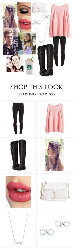 """""""you and your boyfriend walking on a fall day with Starbucks"""" by becca-arceo ❤ liked on Polyvore featuring Splendid, WithChic, Naturalizer, Charlotte Tilbury, Rebecca Minkoff and Tiffany & Co."""