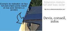 extension bac acier toit plat