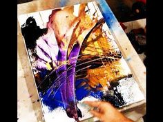 ▶ Two best tricks in creating acrylic painting effects and new abstract painting ideas with Peter - YouTube