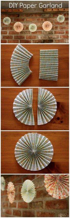 DIY Paper Garland : DIY Wedding Paper Garland