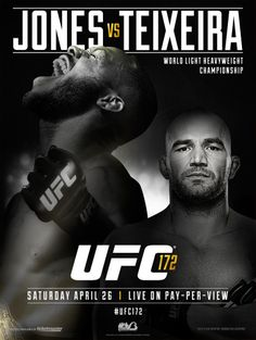 Jones or Teixeira Who is going to win the Ultimate Fighting Championship (UFC) this Saturday? Come to the leading UFC sports bar Atlanta and find out who knocks the ring out. 942 Peachtree Street, Midtown, Atlanta, GA Call now at for more information. World Heavyweight Championship, One Championship, Jon Jones Vs, Baseball Fight, Ufc Sport, Ufc Events, Boxing Posters, Ufc Fight Night, Mixed Martial Arts