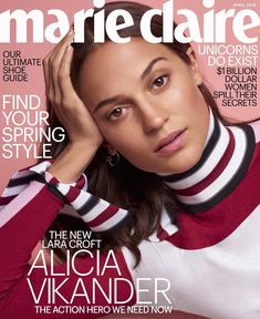 Alicia Vikander for Marie Claire US - April 2018