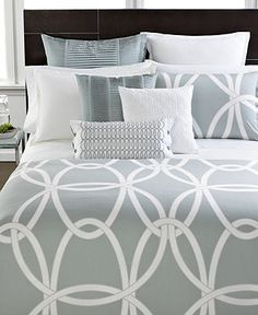 Hotel Collection Bedding, Modern Gates King Duvet Cover - Bedding Collections - Bed & Bath - Macy's