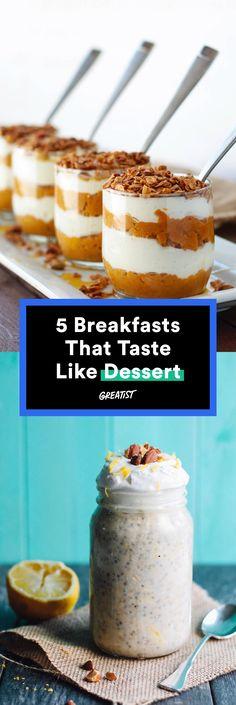 "Move over, brinner; it's ""bressert"" time. #healthy #breakfast #dessert #recipes http://greatist.com/eat/breakfast-recipes-that-taste-like-dessert"