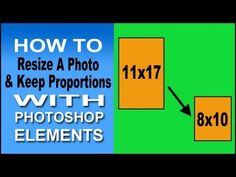 Use Photoshop Elements To Resize Proportionally - YouTube Photoshop Elements Tutorials, Adobe Photoshop Elements, Photoshop Tips, Photoshop Tutorial, Lightroom, Photography Lessons, Photoshop Photography, Digital Scrapbooking, Cool Pictures