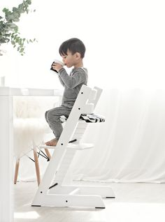 Tripp Trapp Chair And Accessories From Stokke   White Stokke Tripp Trapp  Chair + Cushion Via